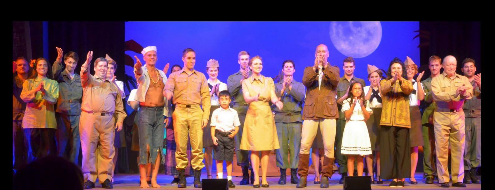 The cast of SOUTH PACFIC at the Ivoryton Playhouse, July 2015